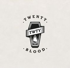 Logo for Twenty Blood - Tattoer @twentybloodtattoo #frenchplayonwordtranslateinenglish #twentybloodtattoo #twentyblood #logo #logotype #graphicdesign #instadesign #tattoo #tattooartist #tattoer #inked #ink #tatouage #tatoueur #twenty #blood #drop #goutte #sang #coffin #cercueil #gravure #Vincent #identité #identity #black #create #création by loladuug