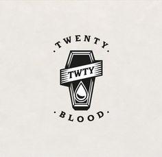 Logo for Twenty Blood - Tattoer @twentybloodtattoo #frenchplayonwordtranslateinenglish #twentybloodtattoo #twentyblood #logo #logotype #graphicdesign #instadesign #tattoo #tattooartist #tattoer #inked #ink #tatouage #tatoueur #twenty #blood #drop #goutte #sang #coffin #cercueil #gravure #Vincent #identité #identity #black #create #création by loladuug