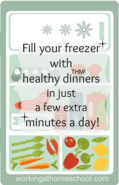 Did you know you can fill your freezer with healthy THM dinners without spending hours in the kitchen? This is the EASY way to make freezer meals for THM! https://workingathomeschool.com/2014/07/16/healthy-thm-freezer-meals