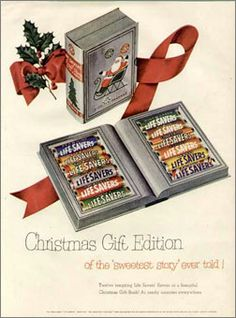 Life Savers Sweet Story Book Christmas Edition | Vintage Advertisement | Old time candy