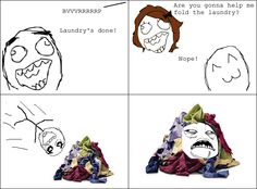 Le Laundrys Done - View more rage comics at http://leragecomics.com