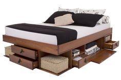 massivholzbett mit schubladen ohne kopfteil jetzt. Black Bedroom Furniture Sets. Home Design Ideas