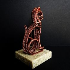 Copper Wire Cat Sculpture - right rear | Flickr - Photo Sharing!