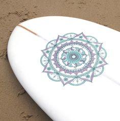 Mandala Surfboard Vinyl Sticker