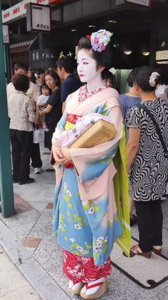 Maiko Satsuki in 2012 wearing a wonderful september kanzashi featuring autumn…