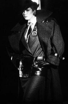 Linda Spierings  For Claude Montana Photo by Arthur Elgort 1983