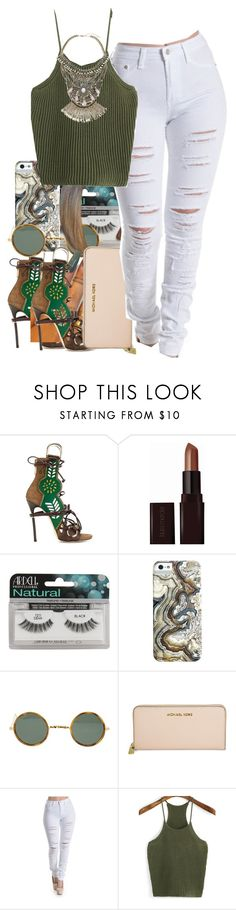 """eeh"" by thaofficialtrillqueen ❤ liked on Polyvore featuring Dsquared2, Laura Mercier, Ardell, Ray-Ban, Michael Kors, WithChic and Free People"