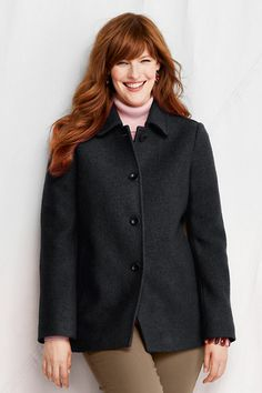 Women's Boiled Wool Jacket from Lands' End $69.99