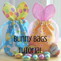 Easter Bunny Bags Tutorial - Just Jude Designs - Quilten, Patchwork & Schnittmuster und Klassen Sewing Projects For Beginners, Sewing Tutorials, Sewing Hacks, Sewing Crafts, Sewing Tips, Bag Tutorials, Bags Sewing, Sewing Ideas, Sewing Designs