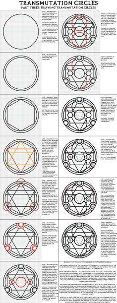 """Alchemy:  #Transmutation #Circles, """"Part Three: Drawing Transmutation Circles"""". Full Metal #Alchemist / Hagane No Renkinjutsushi."""