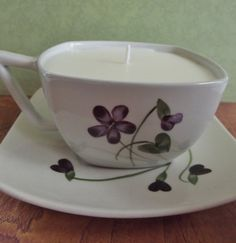 Teacup Candle Soy CUSTOM SCENT Handmade Natural by candlesbynature, $10.00