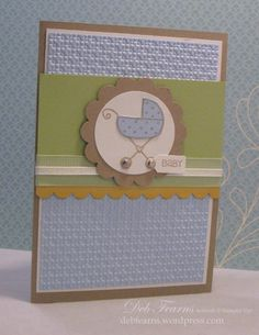 Baby Boy card using Stampin Up Fun & Fast Notes