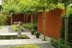 Houseplants That Filter the Air We Breathe Corten Steel Wall Panel Steel Fence, Corten Steel, Steel Wall, Modern Landscaping, Backyard Landscaping, Small Gardens, Outdoor Gardens, Landscape Architecture, Landscape Design