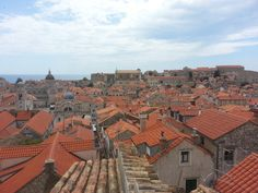 A view from the city walls of the beautiful old town of Dubrovnik