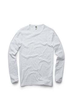 Basic long sleeve tee with a round ribbed neck. www.g-star.com