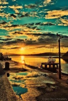 Clew Bay sunset, Westport, Co Mayo, Ireland (Photo by Gerry Chaney) by nannie