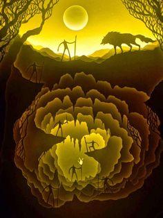 Удивительные многослойные картины из бумаги - Ярмарка Мастеров - ручная работа, handmade
