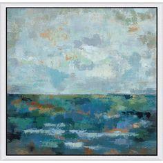 Green Silvia Vassileva 'Seascape Sketches II' Framed Canvas Art