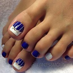 Toe nail art is one of the best ways to make your feet look sexy and interesting. If you are fond of nail art and manicure, you should pay more attention to you Toenail Art Designs, Nail Designs Pictures, Pedicure Designs, Pedicure Nail Art, Pedicure Ideas, Black Pedicure, Pretty Toe Nails, Cute Toe Nails, My Nails