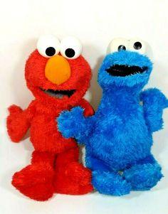 "Sesame Street Talking Elmo 11"" Soft Plush Toy Hasbro 2014 + Cookie Monster Plush #Hasbro Plush, Toys, Ebay, Activity Toys, Toy"