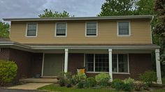 This home's exterior was pretty old, worn and damaged in various areas. We did a complete tear down of the old siding and replaced with with brand new James Hardie siding and trim.  James Hardie siding and trim (front of house).  http://www.prohome1.com/en/gallery/siding-pictures.html