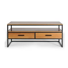Idea for a bench - loose the drawers, but the metal frame with an open front for shoes is ideal for front entryway.
