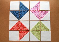 Solstice Stars Series : Ribbon Star — Fresh Lemons Modern Quilts great HST pattern