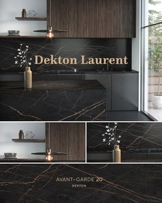 Laurent is a color of the brand Dekton. Modern Kitchen Design, Interior Design Kitchen, Modern Interior Design, Küchen Design, House Design, Design Trends, Cuisines Design, Black Kitchens, Home Decor Inspiration