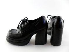 90s platform sHOES | 90s Platform Shoes Sz 6 // 90s Shoes 6 90s Grunge Club Kid // ... | 9 ...