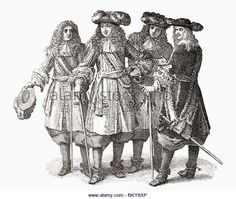 louis-xiv-and-officers-of-his-staff-louis-xiv-1638-to-1715-king-of-bky6xp.jpg (640×540)