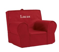 Red Oversized Anywhere Chair | Pottery Barn Kids