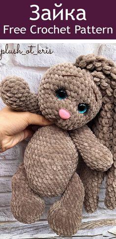 Crochet Crafts, Yarn Crafts, Crochet Toys, Crochet Projects, Craft Patterns, Doll Patterns, Knitting Patterns, Crochet Patterns, Crochet Bunny