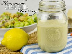 Misc Recipes Homemade Caesar Salad Dressing - recipe for how to make Don't Buy A Down Comforter Unti Caesar Salad Dressing Ingredients, Salad Dressing Recipes, Salad Recipes, Salad Dressings, Homemade Caesar Salad Dressing, Homemade Dressing, Caesar Dressing Recipe Mayo, Cesar Salat, Dips