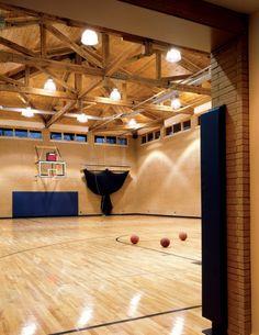 Contemporary Home Basketball Court                                                                                                                                                                                 More
