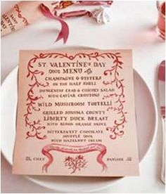 red o valentine menu