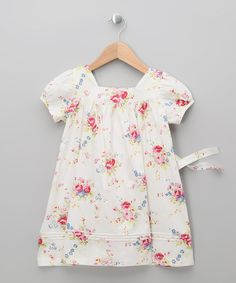 Loving this White Floral Dress - Infant, Toddler & Girls on #zulily! #zulilyfinds