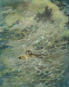 rainysanctuary:    moonmoth:crashinglybeautiful:lethebashar:fuckyeahchildrensbooks:  The Little MermaidHans Christian Anderson