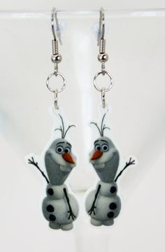 Olaf Frozen Earrings SD FS by JegasCreations on Etsy, $7.95