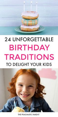 Kid's birthdays aren't just about big parties or goodie bags; birthdays are a celebration of life. 24 Unforgettable birthday traditions your kids will cherish. Kid's Birthdays aren't about the size of the party, it's how special they feel on their birthday and they don't cost a penny with special birthday traditions. #birthdaytraditions #kidsbirthdaytraditions #kidsbirthdayparty #kidbirthdayparties via @https://www.pinterest.com/PragmaticParent/