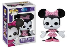 Mickey's love interest, Minnie Mouse is looking cute and pretty in her pink and white polka-dots in this Pop! Vinyl Figure.