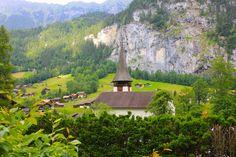 The beautiful Lauterbrunnen Valley.
