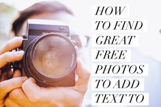 How to Find Great Free Photos to Add Text to