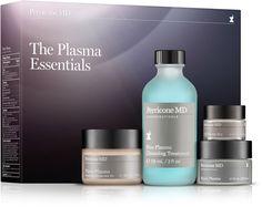 ⭐️ Plasma Essentials  $99 Ulta Beauty - Blue Plasma (cleansing treatment, micellar water) - Hyalo Plasma (serum, 3 types of Hyaluronic Acid) - Eye Cream Plasma (can reapply during day for added hydration) - Cold Plasma Moisturizer Tint SPF 30