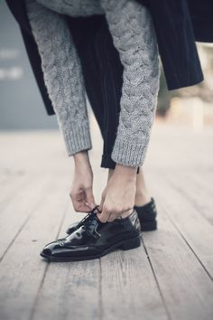 Grey and oxfords