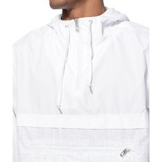 Protect yourself from light winds and rain in a stylish windbreaker anorak jacket from Empyre. The Transparent is a classic anorak style design that features a white upper accented by a sp