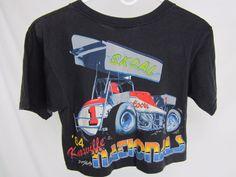 Vtg 1984 Knoxville Nationals Sprint Car Racing Midrift T Shirt Skoal Coors Sz S | eBay