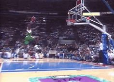 Freethrow line dunk by Shawn Kemp gifs gif sports gifs basketball nba athlete hoops shawn kemp dunks amazing athlete flare