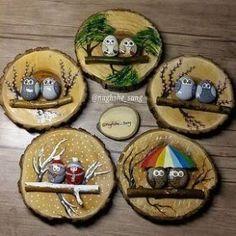 Stone Crafts, Rock Crafts, Diy Christmas Gifts, Holiday Crafts, Fun Crafts, Diy And Crafts, Crafts For Kids, Christmas Ornaments, Christmas Mood