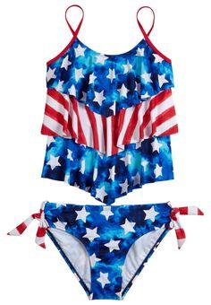 Stars & Stripes Tankini Swimsuit