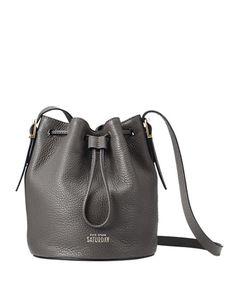 Kate Spade Bucket Bag // Leather Drawstring
